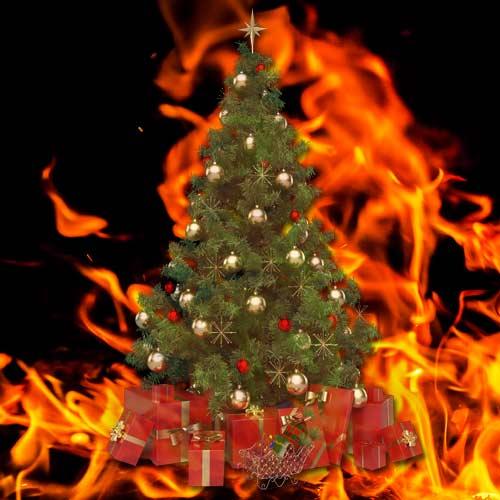 Brandursache Weihnachten